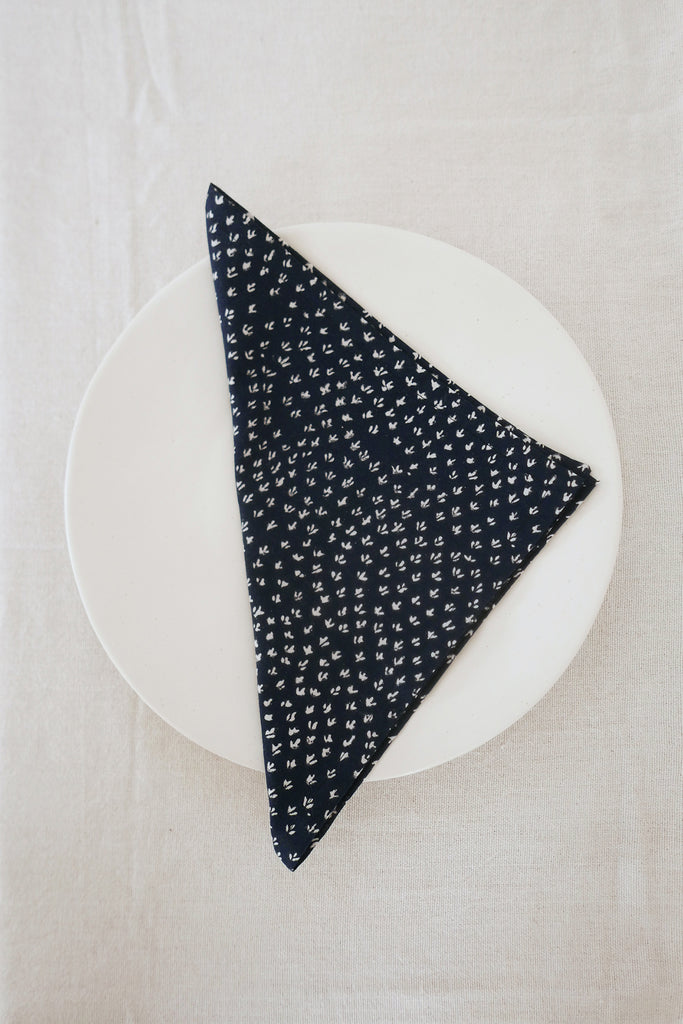 Napkins in Scrub Print Cotton - Set of Four