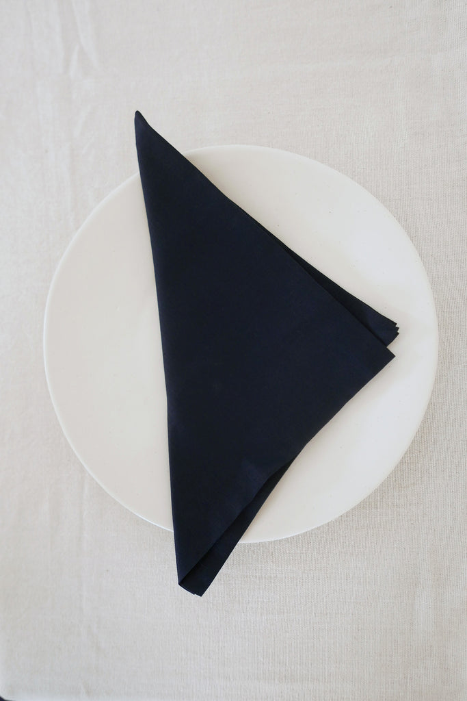 Napkins in Midnight Blue Linen - Set of Four
