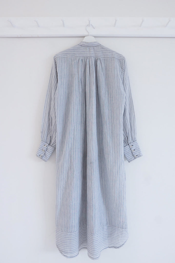 Grandpa Shirt Dress in Khadi Cotton
