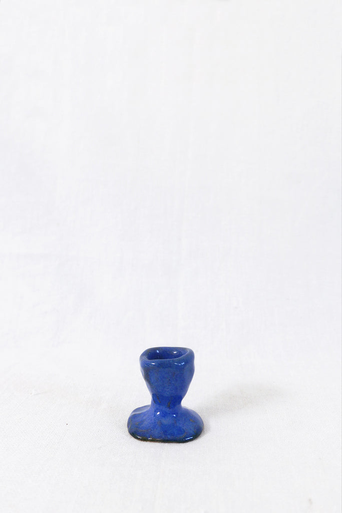 Jade Paton Candle Holders in Blue Glaze