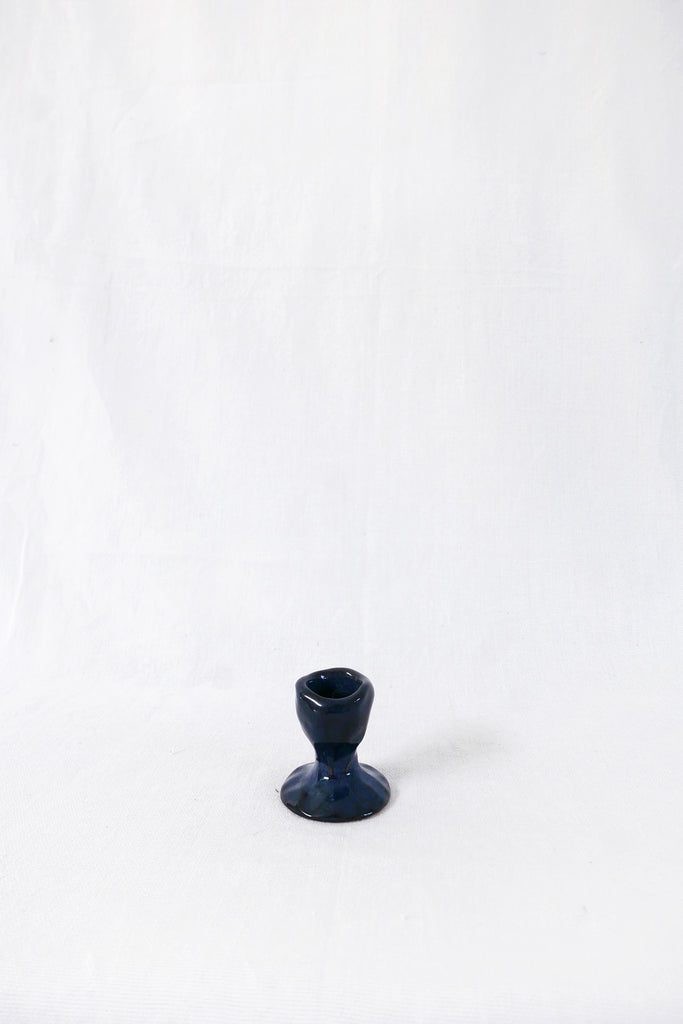 Jade Paton Candle Holders in Midnight Glaze