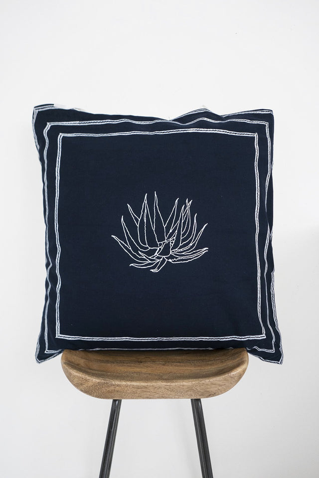Dark Aloe Pillow Cover