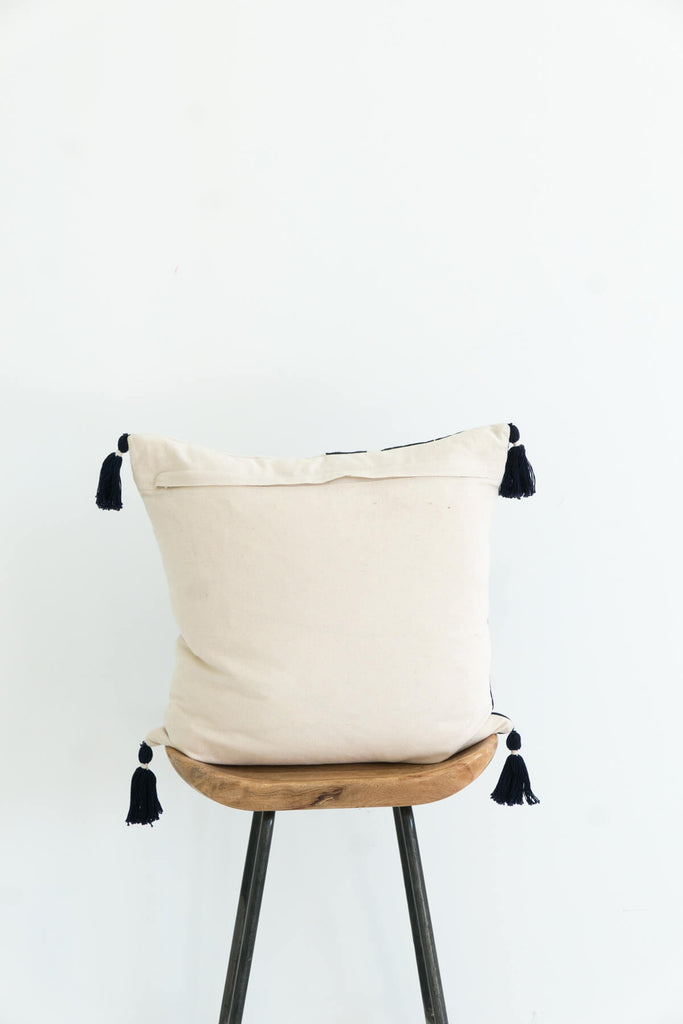 Nagaland Cushion in Midnight and Ivory