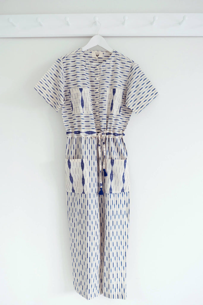 Hand loomed Jumpsuit in Delft