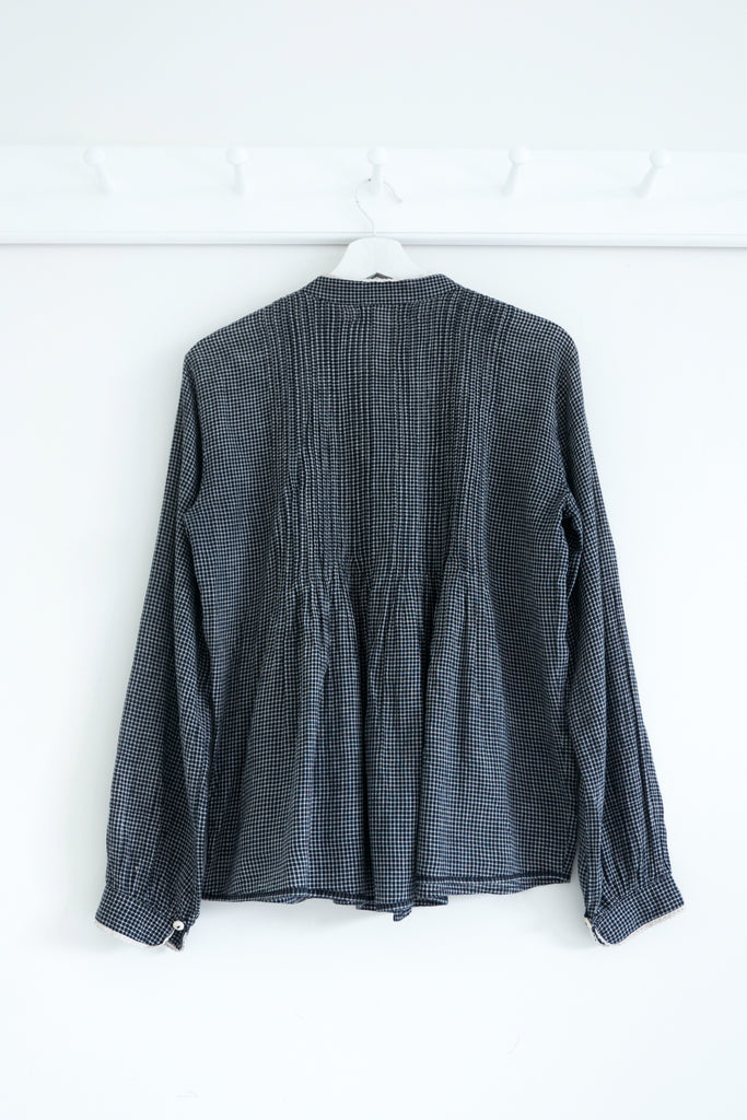 Hobbyist Blouse in Black Khadi Cotton