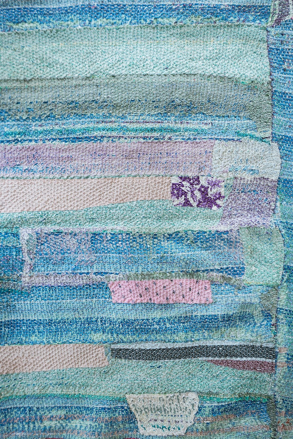 Vintage Kantha Quilt in Multicolor Patchwork