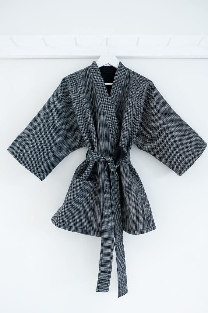 Quilted Reversible Kimono Jacket