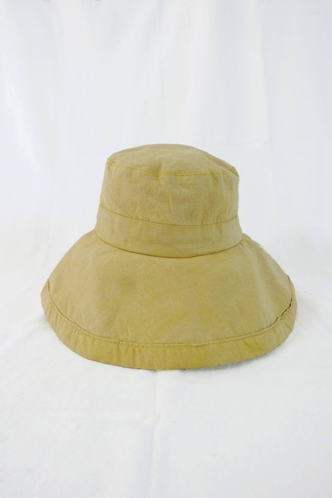 Sun Hat in Natural-Dye Botanic Yellow