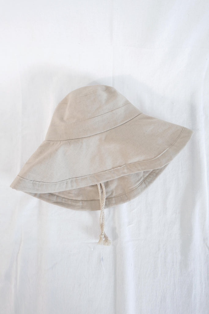 Sun Hat in Natural Cotton-Linen