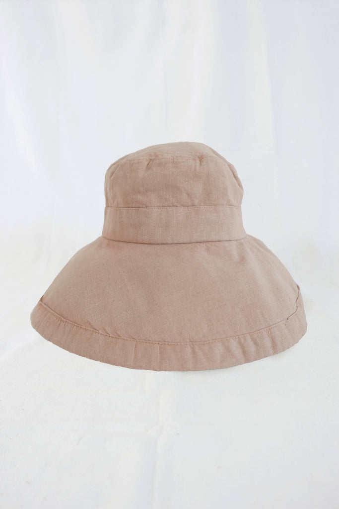 Sun Hat in Natural-Dye Pecan Pink