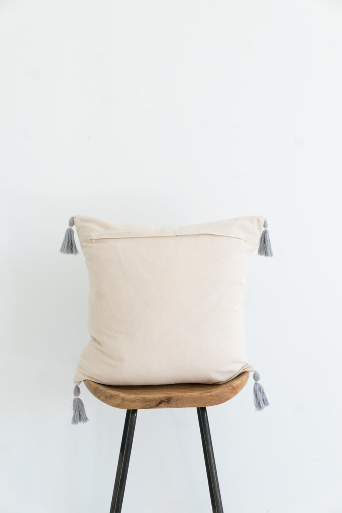 Nagaland Cushion in Ivory and Rust
