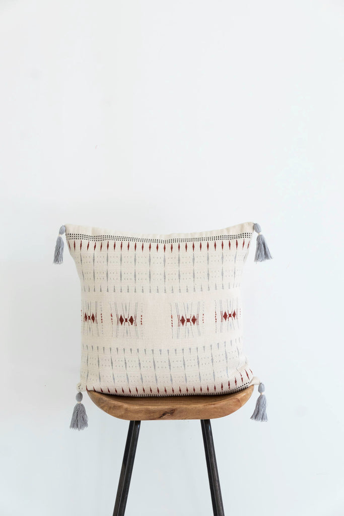 Bethulie Cushion in Ivory and Rust