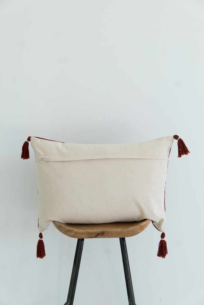 Nagaland Bolster Cushion in Rust