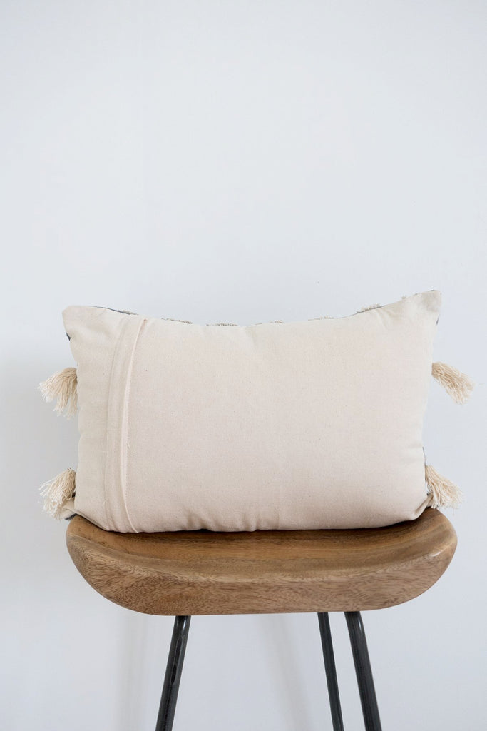 Nagaland Bolster Cushion in Grey