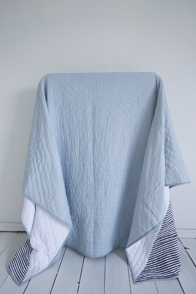 Midnight Striped Quilt & Robe Gift Set