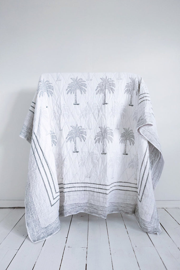 Lala Palm Print Quilt & Robe Gift Set
