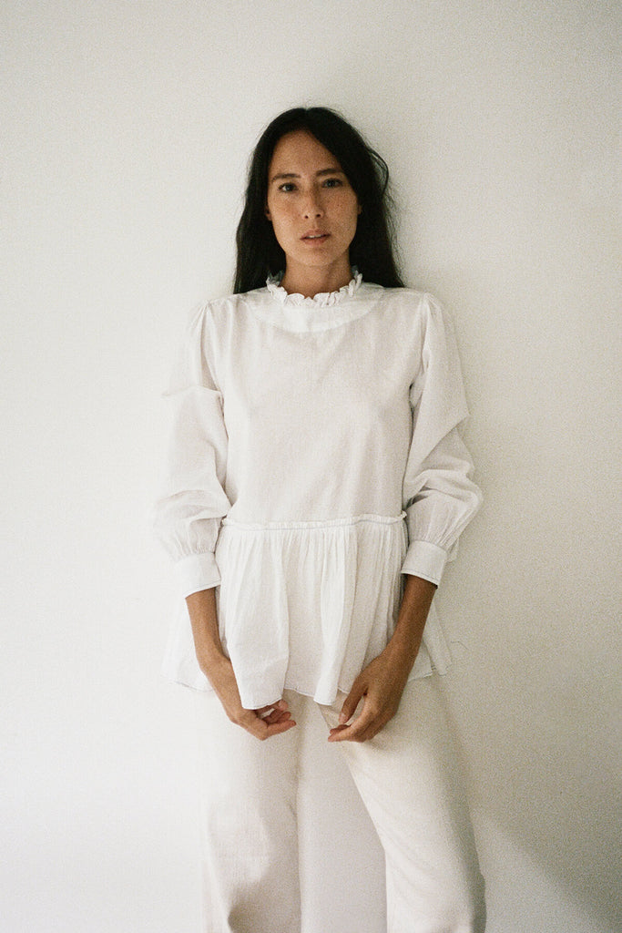 The Poet Blouse in White