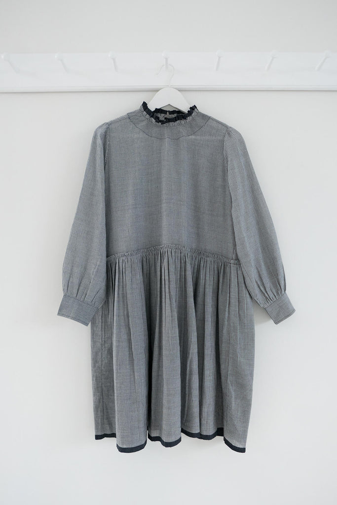 Poet Dress in Grey Khadi