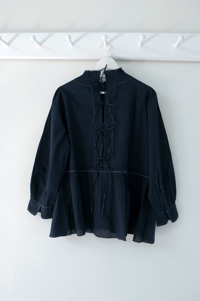 Poet Blouse in Navy
