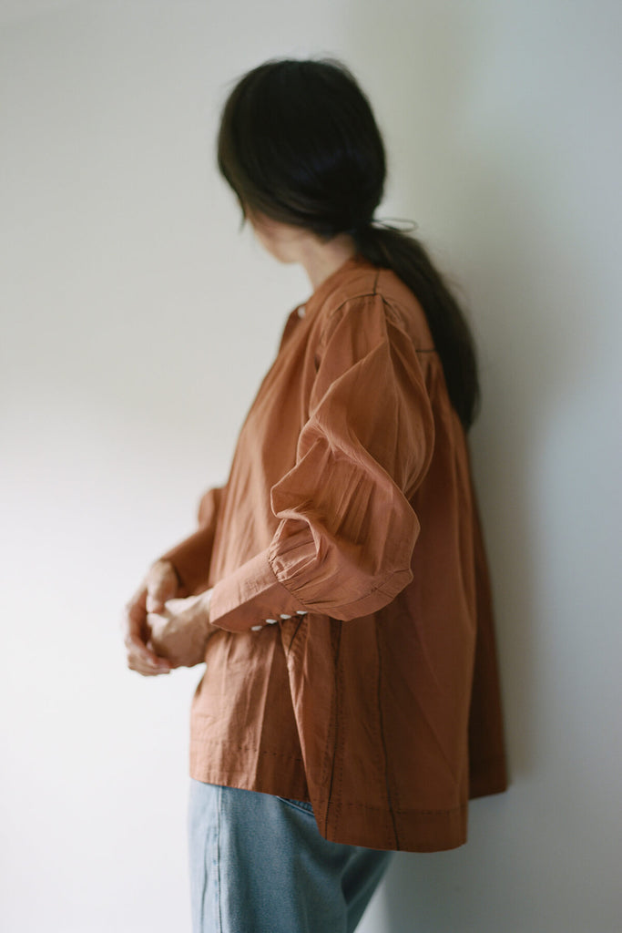 Potter's Blouse in Terracotta