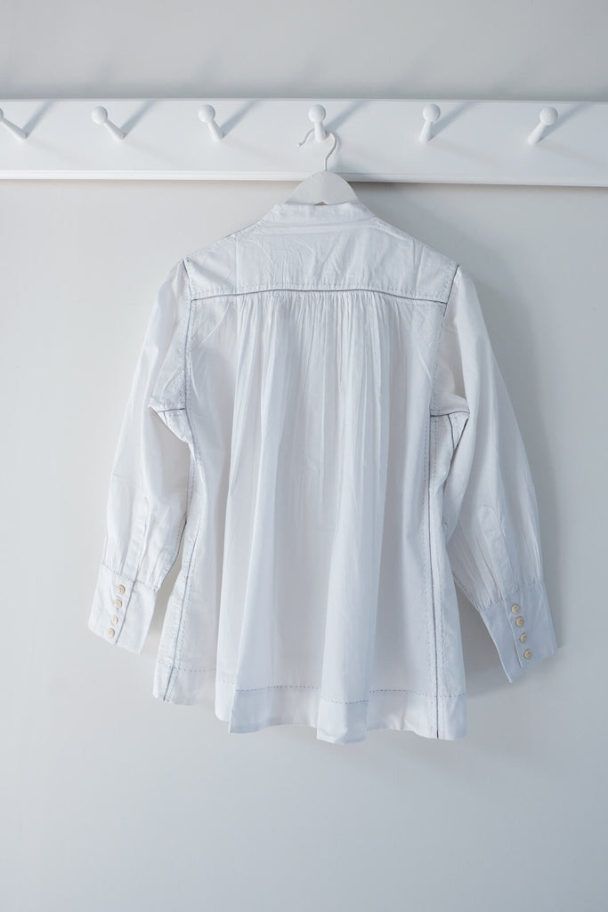 The Potter's Blouse in White