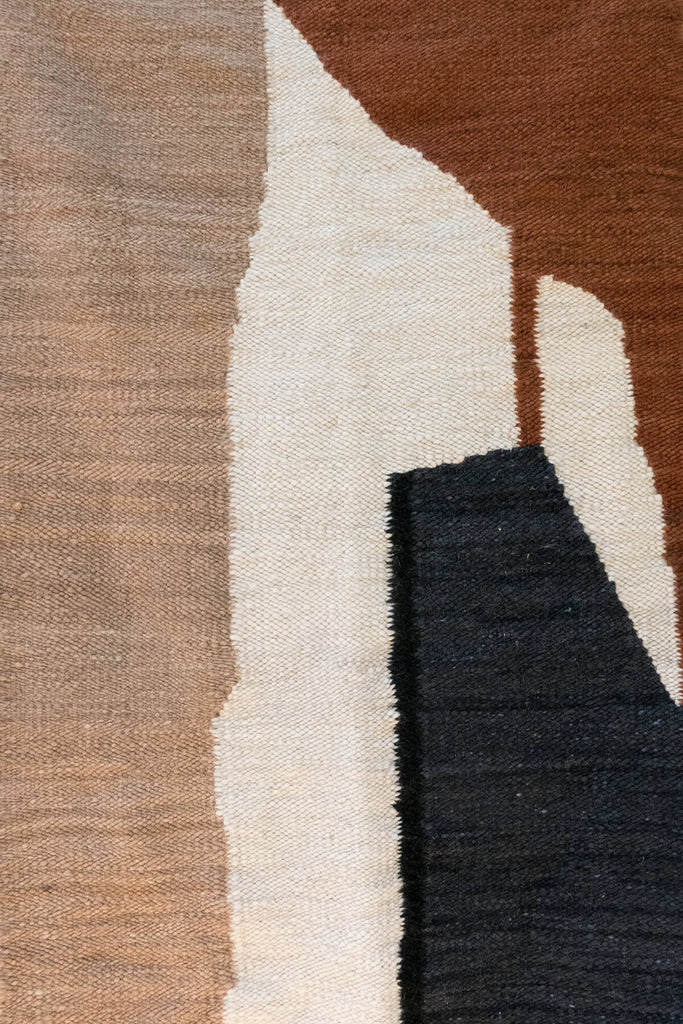 Karu X Frances V. H. 'Abstract Landscape' Mohair Rug in 3X5""