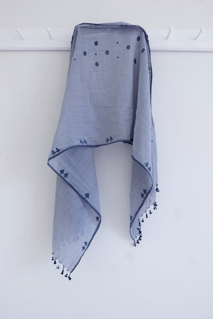 Summer Scarf in Jamdani Handloom Cotton