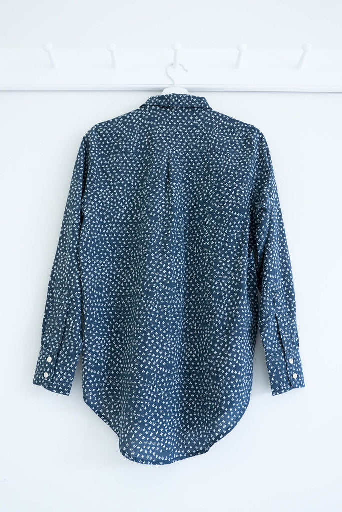 Scrub Print Shirt in Karu Blue