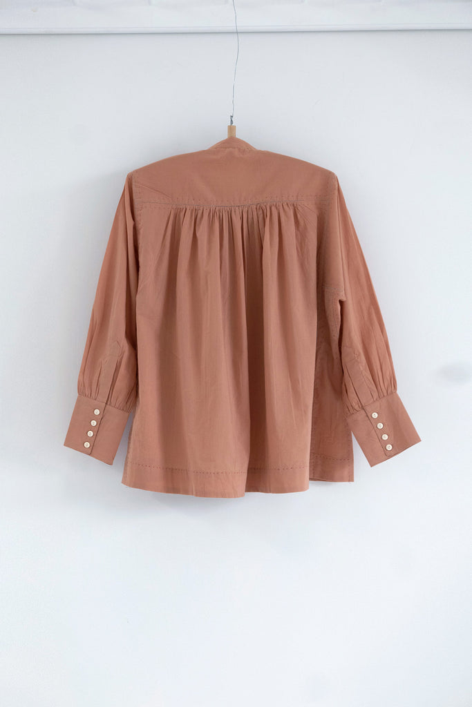 The Potter's Blouse in Pink Clay
