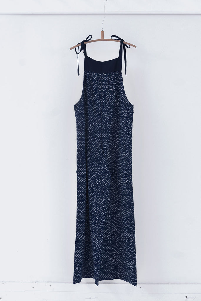 Scrub Print Jumpsuit in Midnight Blue