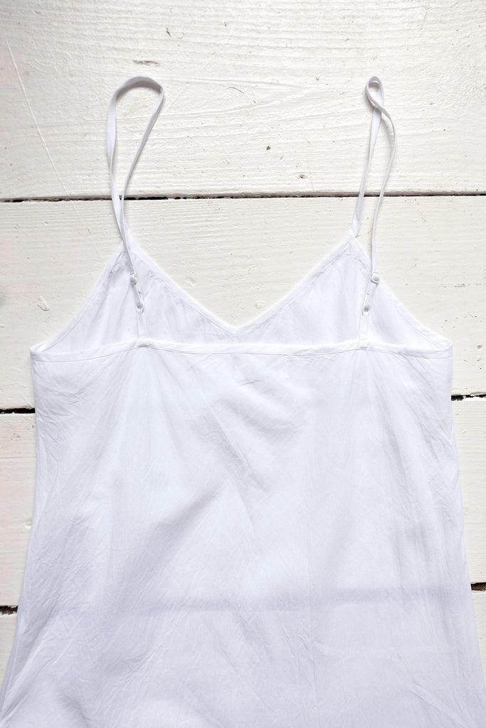 White Cotton Slip Dress