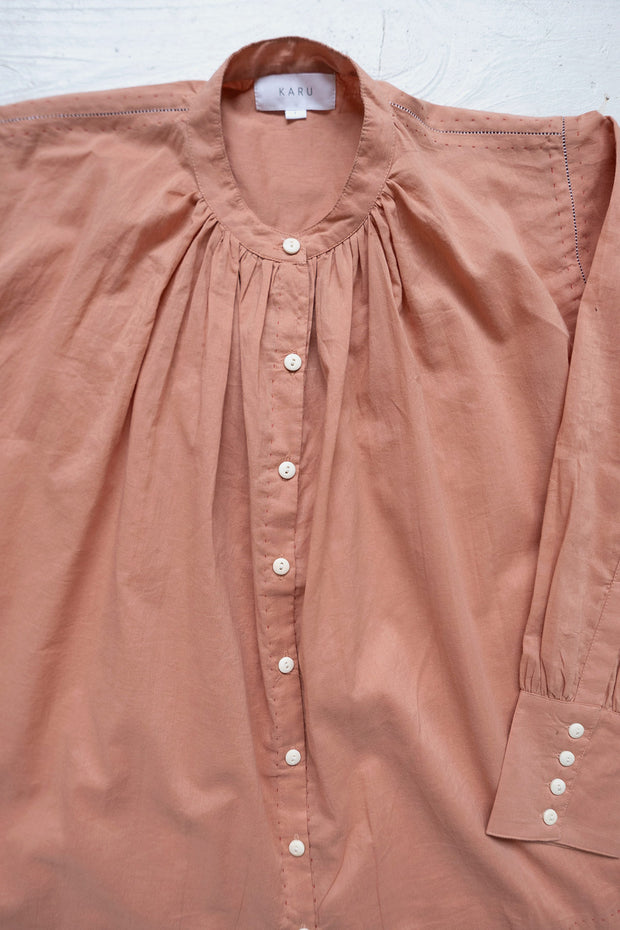 The Potter's Blouse in Pink Clay 1
