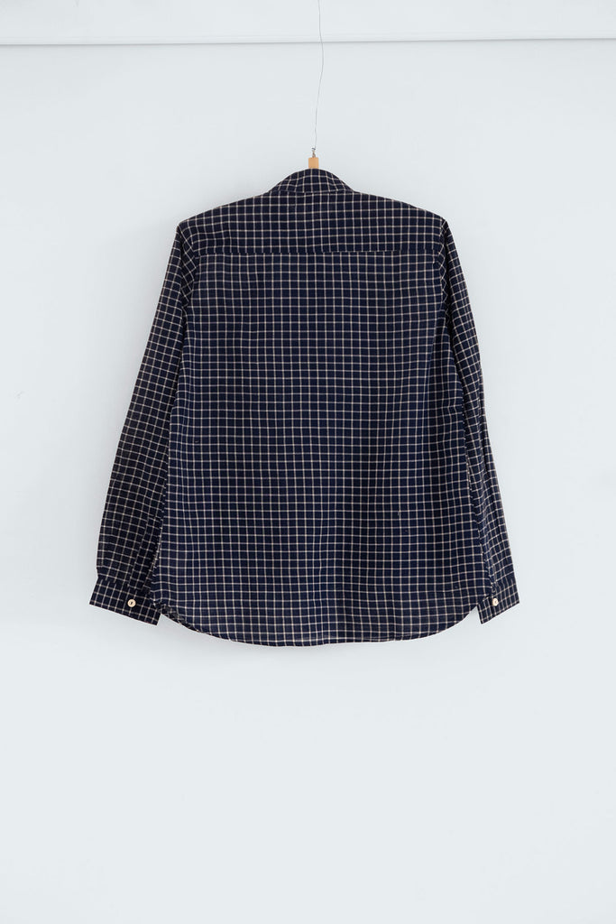 Catriona Blouse in Khadi Check Cotton