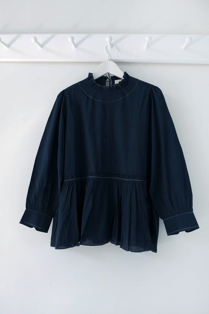 Poet Blouse in Midnight