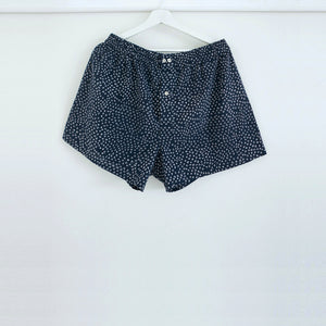 Scrub Print Shorts in Midnight Blue