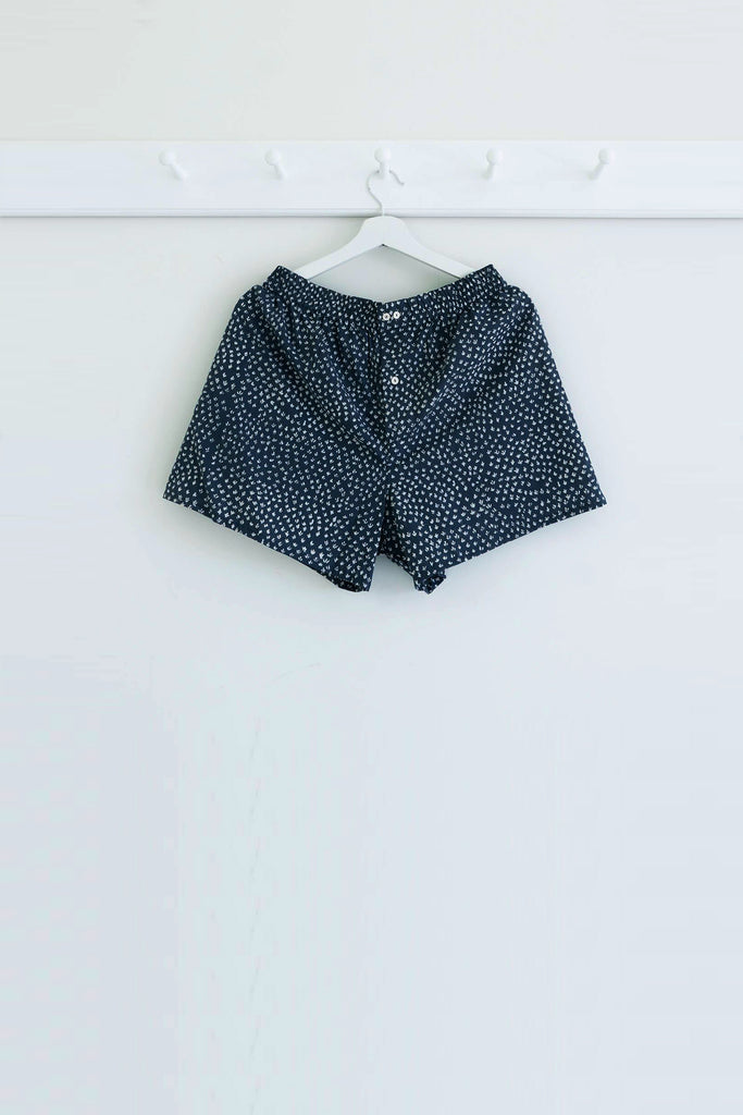 Scrub Print Shorts in Karu Blue