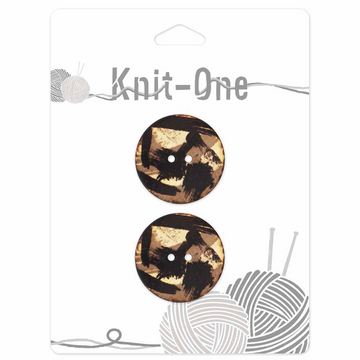 Knit-One Buttons - 1 1/8 in.