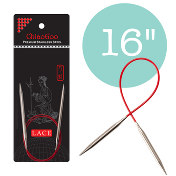ChiaoGoo Red Lace Circular Needles - 16 in.