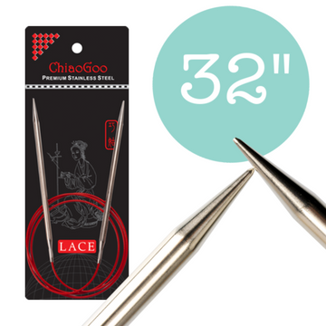 ChiaoGoo Red Lace Circular Needles - 32 in.