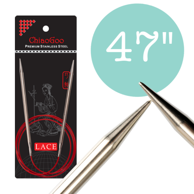ChiaoGoo Red Lace Circular Needles - 47 in.