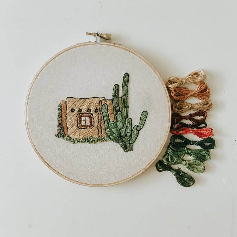Sunday Mornings Shop Embroidery Kit - Little Adobe