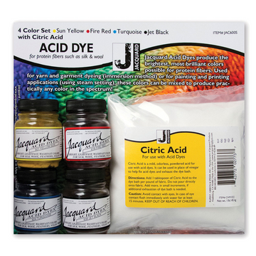 Jacquard 4 Colour Dye Set