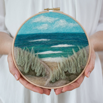 Felted Sky Painting with Wool Kit - Beach View