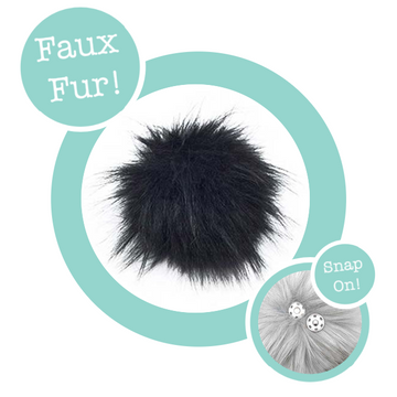 Faux Fur Snap On Pom Pom