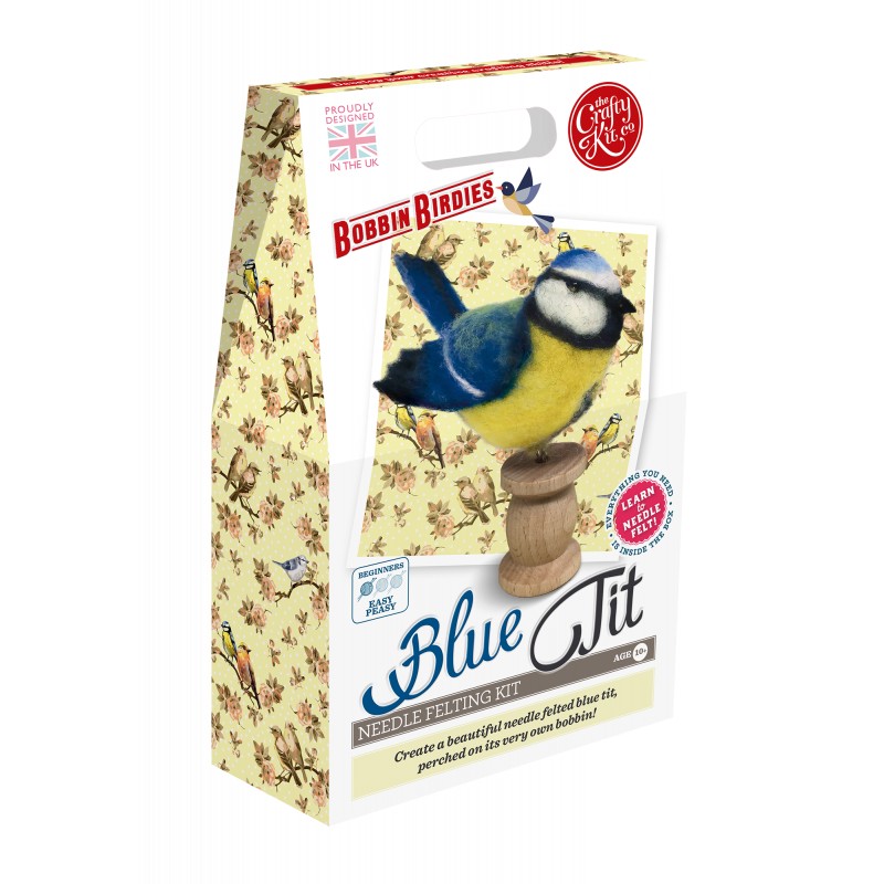 Felting Kit: Bobbin Birdies Blue Tit