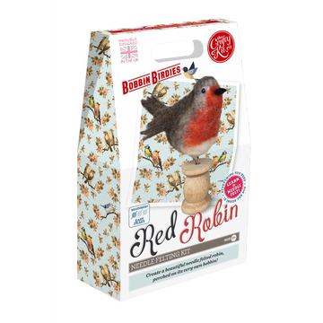 Bobbin Birdies Felting Kit: Red Robbin