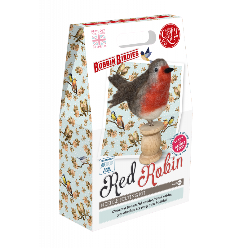 Felting Kit: Bobbin Birdies Red Robin
