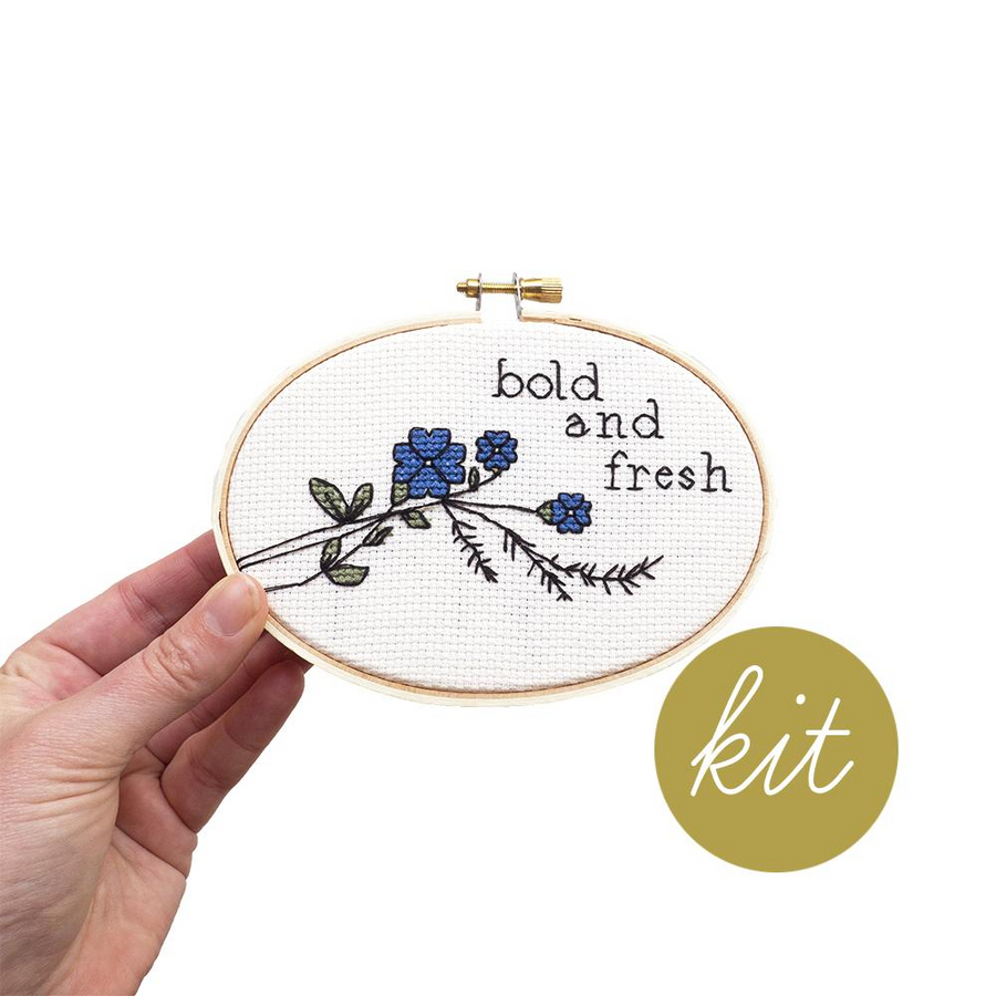 Junebug and Darlin Bold & Fresh Cross Stitch Kit
