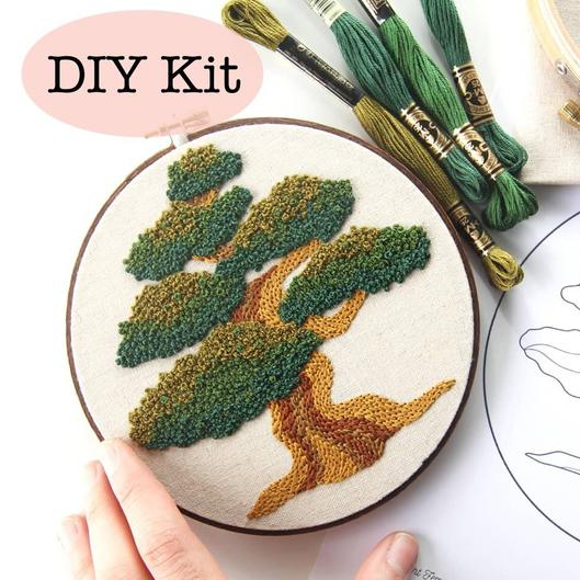 Femmebroidery Embroidery Kit | Bonsai