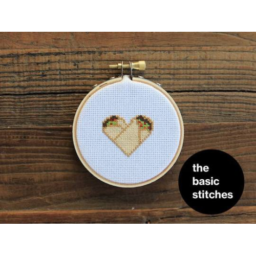 The Basic Stitches Cross Stitch Kit - Burrito Love